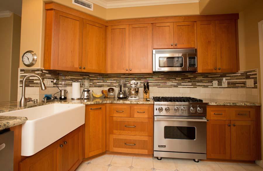Frameless Custom Kitchen Cabinets - silver
